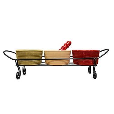 Dip Bowls Holder and Spreader Set