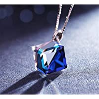 YChoice of Lovely Cosmetics Toy Crystal Love Cube Aurora Sugar Cube Pendant Chain Necklace