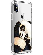 Oihxse Transparente Silicona Funda Compatible con iPhone 5/5S/SE Carcasa Ultra-Delgado Suave TPU Gel Airbag Esquinas Anti Rasguños Lindo Protector Case Bumper(A14)