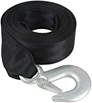 """VEITHI Boat Trailer Winch Strap 2"""" x 20', Trailer Winch Strap with Snap Hook for Boat, Jet Ski and Tr"""