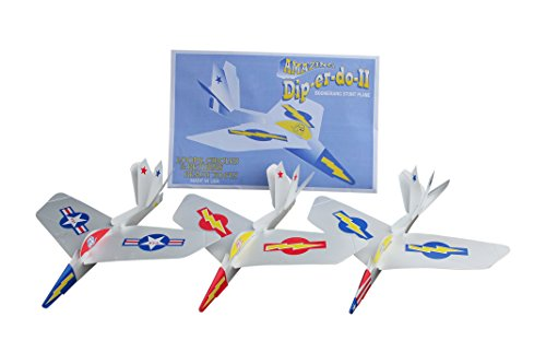 Amazing Dip-er-do-II Boomerang Stunt Plane 3-pack - Loops and Circles - Aerodynamic Science Lesson Toy for Kids