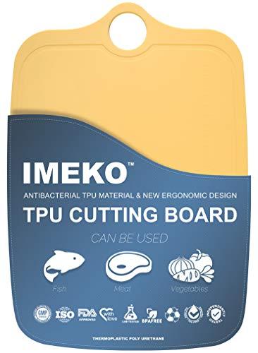 IMEKO New 2019 Kitchen Ergonomic Design TPU Cutting Board - Flexible, Food Safe, BPA free, Anti - Bacterial Chopping Mats