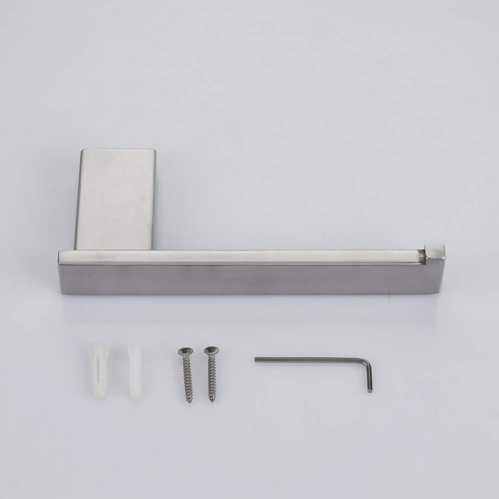 AiHom Portarrollos para Papel Higi/énico de Acero Inoxidable con Estante de Almacenamiento 20cm Acabado Cepillado para Ba/ño