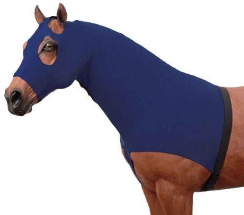 Tough 1 Spandex Mane Stay Hood, Navy Blue, Medium (Blanket Navy Horse Blue)