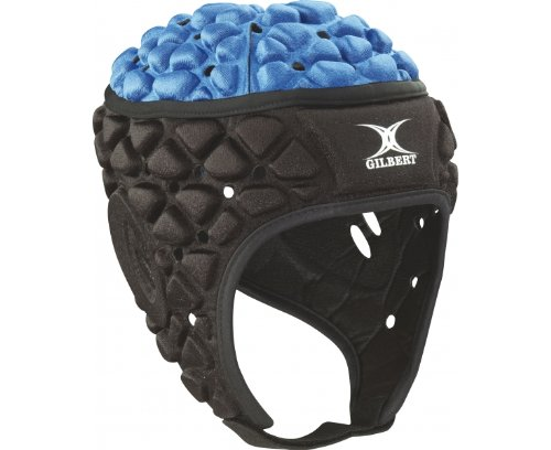 Gilbert Xact Rugby Headguard - Black/Royal (X-Large) (Rugby Cross England)