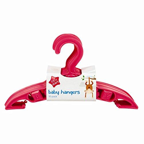 10 PACKUNG VON BABY KLEIDERBÜGEL ROSA Little Stars