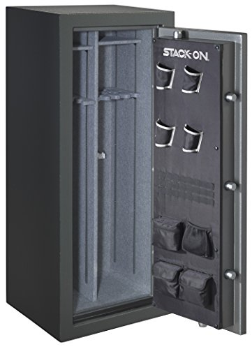 Stack-On TD-24-GP-C-S Total Defense 22-24 Gun Safe with Combination Lock, Gray Pebble