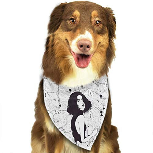 OURFASHION Beauty Group Wolf Bandana Triangle Bibs Scarfs Accessories for Pet Cats and Puppies.Size is About 27.6x11.8 Inches (70x30cm).]()