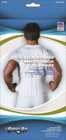 Scott Specialties Sport-Aid Back Support Belt - SA3251 WHI M/LEA - Medium / Large, 1 Each / Each by Scott Specialties