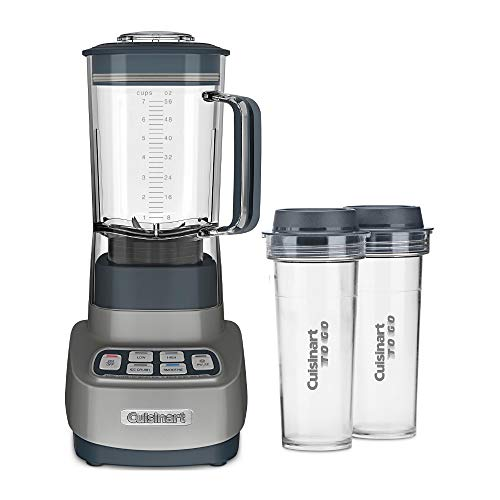 Cuisinart BTC-650GM Velocity Ultra 7.5 1-HP Blender with 2 Travel Cups (Gun Metal)