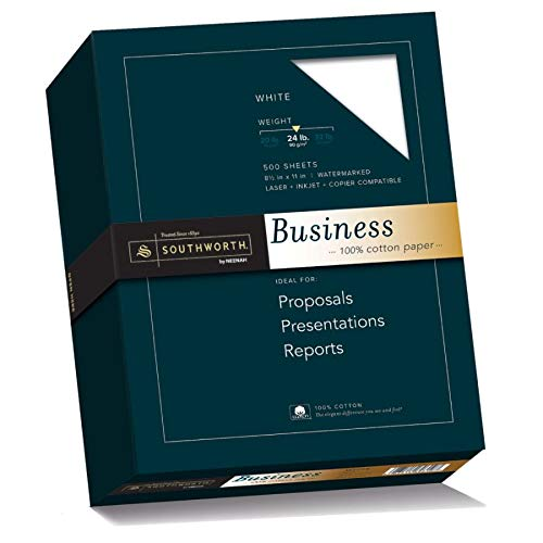 Southworth 100% Cotton Business Paper, 8.5