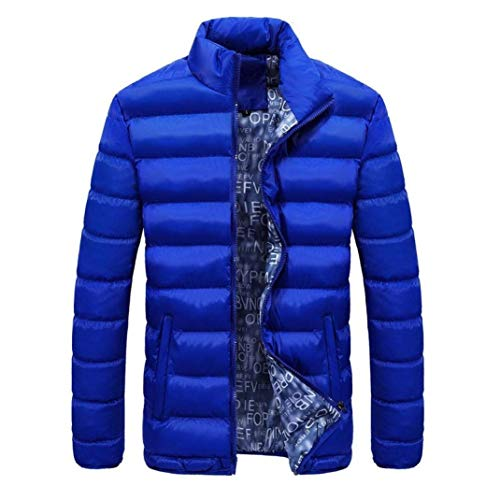 Clothing Jacket Fit Collar Coat Winter Comfortable Parka Down Men Coat Quilted fashion Outerwear Sizes Color Himmelblau HX Slim Thick Jacket Quilted Long Sleeve Stand Warm Solid TSxqZEnw