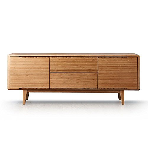 Currant Solid Bamboo Storage Credenza Caramelized Solid Bamboo Dimensions: 72''W x 18.11''D x 27.16''H Weight: 163 lbs by Greenington