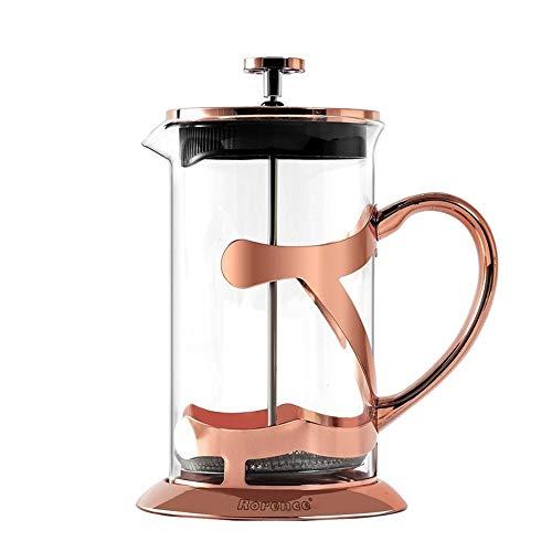 Cafeteras de émbolo Cristal del té cafetera Prensa Pot 1000 ml de Acero Inoxidable de Hogares Prensa de la Mano Filtro…