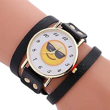 45ecbd7914c1 Relojes de hombre Mujer Reloj Deportivo Reloj Pulsera Cuarzo Creativo Cool  Piel Banda Analógico Encanto Lujo