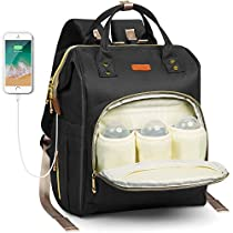 HOMIEE Diaper Bag Multi-Function Waterproof Travel Backpack Nappy Bag for Baby Care