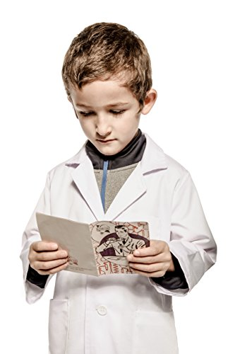 Kid's Lab Coat by Working Class - Durable Lab Coats for Kid Scientists or Doctors, White, (Class Halloween Costumes)