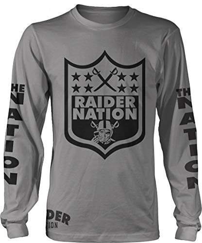 Raider Nation Sword Long Sleeve Grey T-Shirt (Limited Edition) (Large) ()
