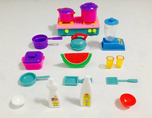 Miniature Kitchen Set Cookware Stove Blender Buy Online In Uae