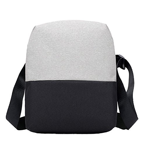 Closure For Bag Canvas Waterproof Zipper Retro Crossbody Lightgreyblack Business Shoulder Men Bags q7wzaEx