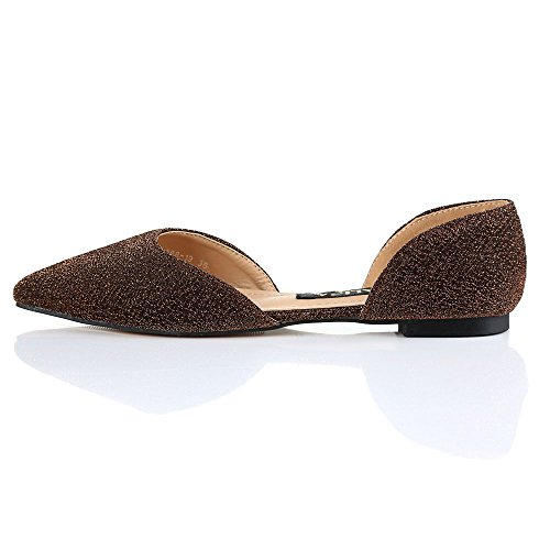 Gold Shoes Ballet Toe Robasiom Classic Flat Pointy xFqWZPY