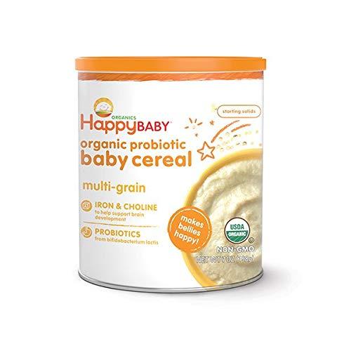Happy Family happy bellies Baby Cereal - Multigrain - 7 oz ( Pack of 2 )