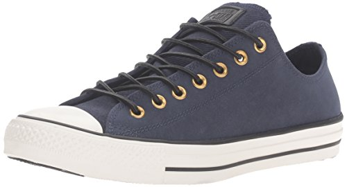 Corduroy Sneaker - Converse Unisex Chuck Taylor All Star Corduroy Leather Obsidian/Egret/Black Sneaker - 12 Men - 14 Women