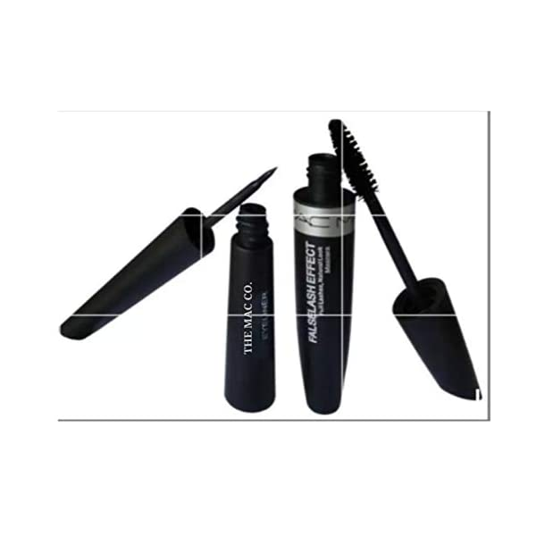 THE MAC CO.Combo Waterproof Liquid Mascara, Eyeliner, Eyebrow Pencil and Eyeconic Kajal (set of 4)