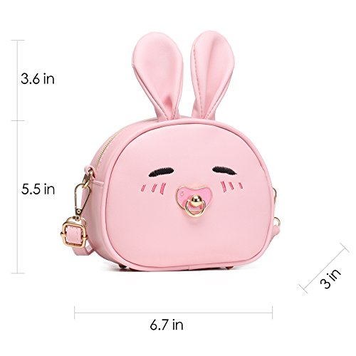 CMK Trendy Kids My First Purse for Toddler Kids Girls Cute Shoulder Bag Messenger Bags with Bunny Ear Novelty Birthday Gift (82011_Pink) by CMK Trendy Kids (Image #3)