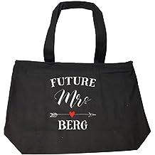Future Mrs Berg Womens Bridal Wedding Gift - Tote Bag With Zip