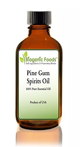 (Pine Gum Spirits - 100% Pure Essential Oil of Pine Tree (NOT Rectified Paint Grade) ING: Organic Oil, 4)