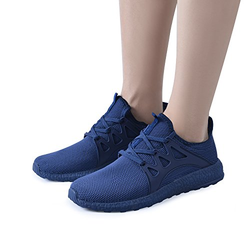 QANSI Womens Sneakers Blue Athletic Casual Shoes Running Tennis rrUxwan1q