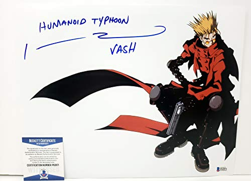 Johnny Yong Bosch autographed 11x14 Poster Photograph Vash the Stampede Trigun Voice Actor Beckett