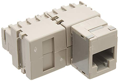 (Leviton 40072-T8 8-Position Modular Adapter, T568B Wiring, Converts Eight Contacts Into An 8-Position, 8-Conductor Non-Keyed Modular Jack, (Tap -8))
