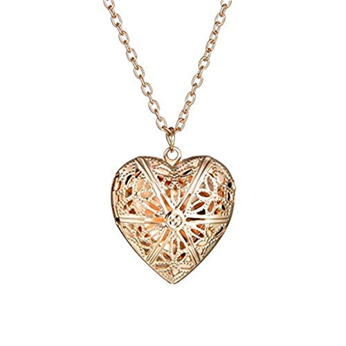 Tanwpn New Women Cute Photo Frame Pendant Heart Pendant Valentine