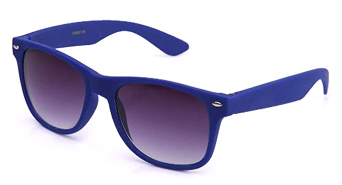 a7861d422c Vintage Retro Neon Color Ocean Colored Lens Matching Rubber Touch Sunglasses  in Blue