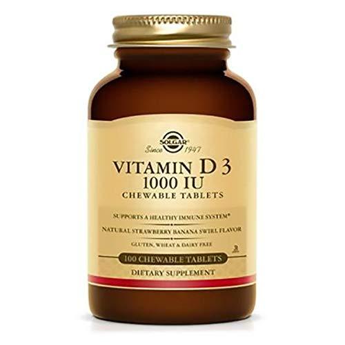 SOLGAR Vitamin D3 1000 Iu Chewable, 100 CT