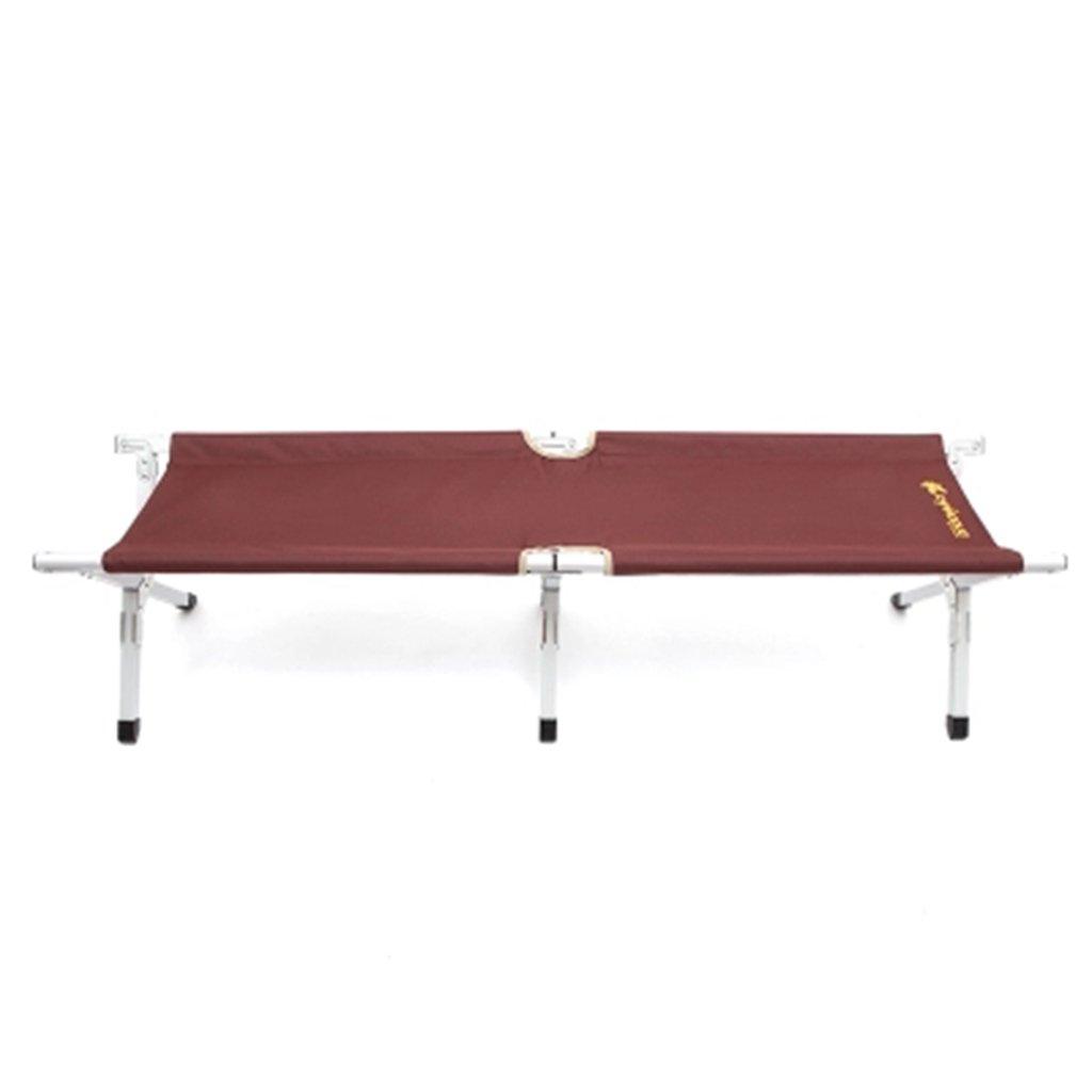 Outdoor-Ausrüstung Aluminium tragbare Klappbett Stall Camping Bett Camp Bett Angeln Bett Bank 155  38  40 cm