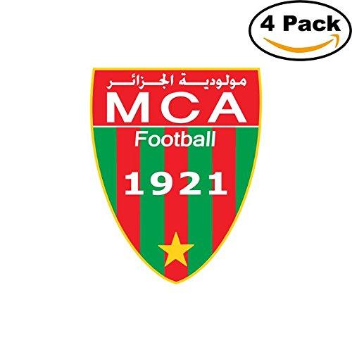 fan products of Mouloudia Club Alger Algeria Soccer Football Club FC 4 Stickers Car Bumper Window Sticker Decal 4X4