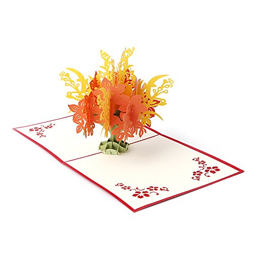 Arich Creative 3D Pop UP Holiday Greeting Card Flower Tree Christmas Thanksgiving Gift (Gift Card Tree Ideas)
