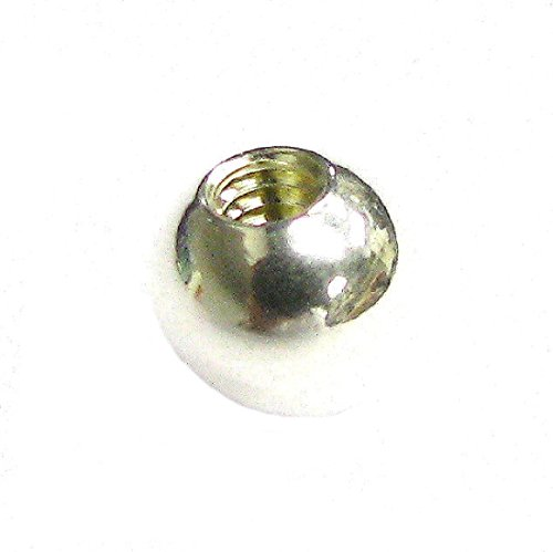 Screw Ball Link (Sterling Silver Screw-on End Ball Bead For European Caprice Charm Bangle Bracelets)