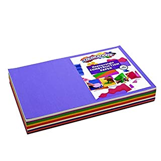 """Colorations Construction Paper Pack, 10 Assorted Colors, 12"""" x 18"""", 300 sheets, heavyweight construction paper, crafts, art, kids art, painting, coloring, drawing, creating, arts and crafts (Item # BIGSMART)"""