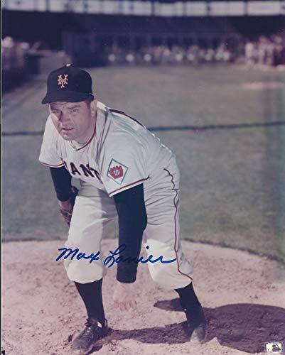 Autographed Max Lanier 8x10 New York Giants Photo