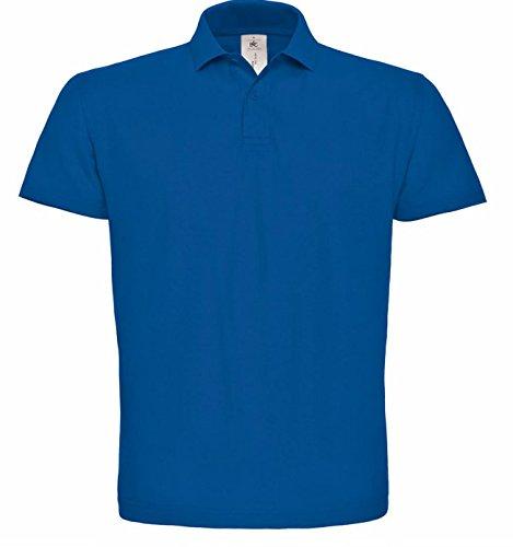 B&C - Polo -  - Manches courtes Homme -  Bleu - Bleu marine - Large