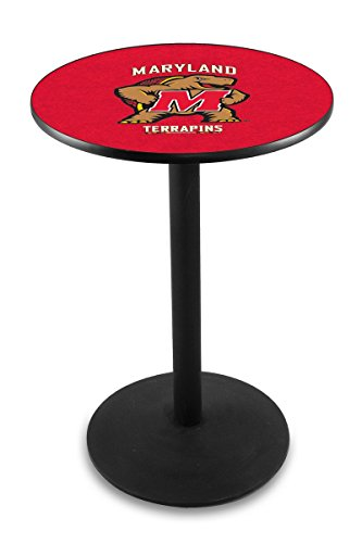 Holland Bar Stool L214B University Maryland Officially Licensed Pub Table, 28