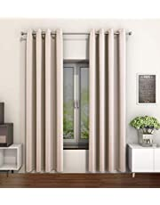 Vantextile Super Soft Thermal Insulated Eyelet Curtains,Blackout Curtains With Two Free Tiebacks,One Pair.