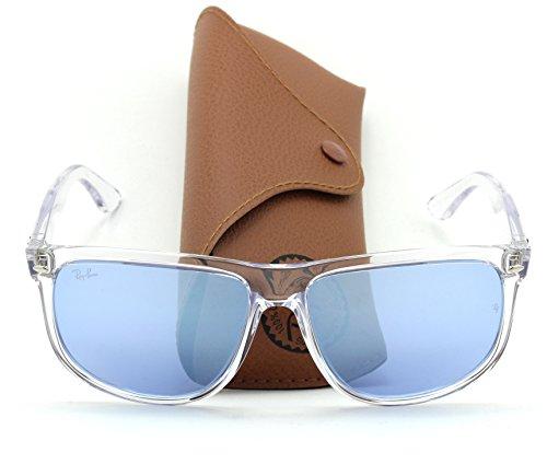 Ray-Ban RB4147 63251U Unisex Transparent Sunglasses Violet Mirror Lens, - Aviator Ban Transparent Ray