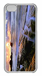 iPhone 5C Case, Personalized Custom Common Sunset for iPhone 5C PC Clear Case