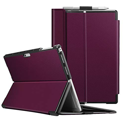 Fintie Protective Case for Surface Pro 6 - Multiple Angle Hard Shell Business Cover, Compatible with Type Cover Keyboard for Microsoft Surface Pro 6 / Surface Pro 5 / Surface Pro 4 (Purple)