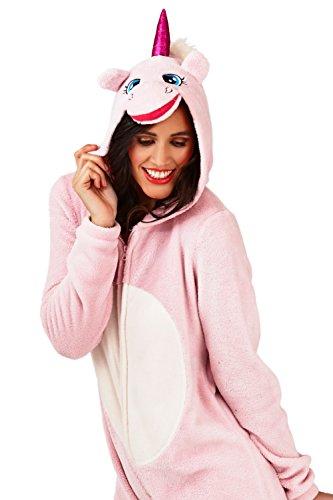 Loungeable - Pijama de una pieza - para mujer Unicorn Pink